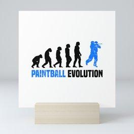 Paintball Evolution T Shirt Paintball Party TShirt Paintball Birthday Shirt Evolution-Look Gift Mini Art Print