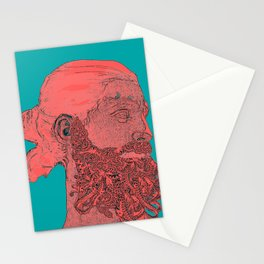 hipster Neptune Red Stationery Cards