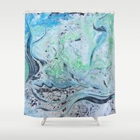 under the sea Shower Curtains featuring Under Sea by Marnie