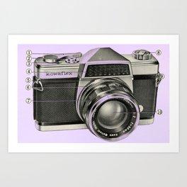 Kowaflex Diagram Purple Art Print