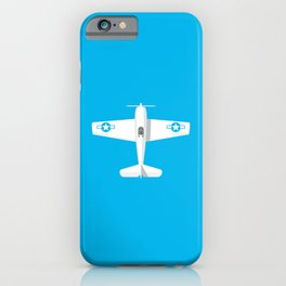 F6F Hellcat WWII Fighter Aircraft - Cyan iPhone Case