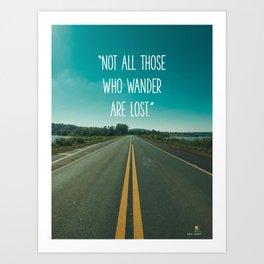 Travel quote Art Print