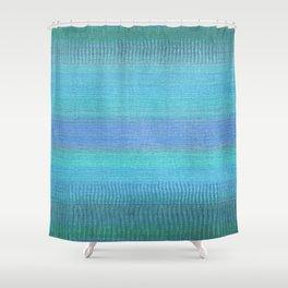 Woven Wonders Blue Shower Curtain