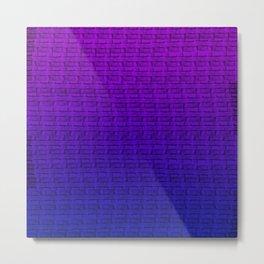 Abstract Purple/Blue Gradient Metal Print