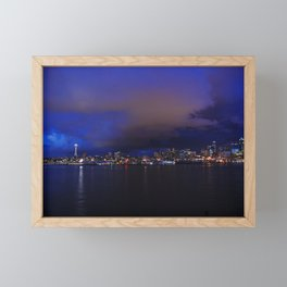 Seattle nightscape Framed Mini Art Print