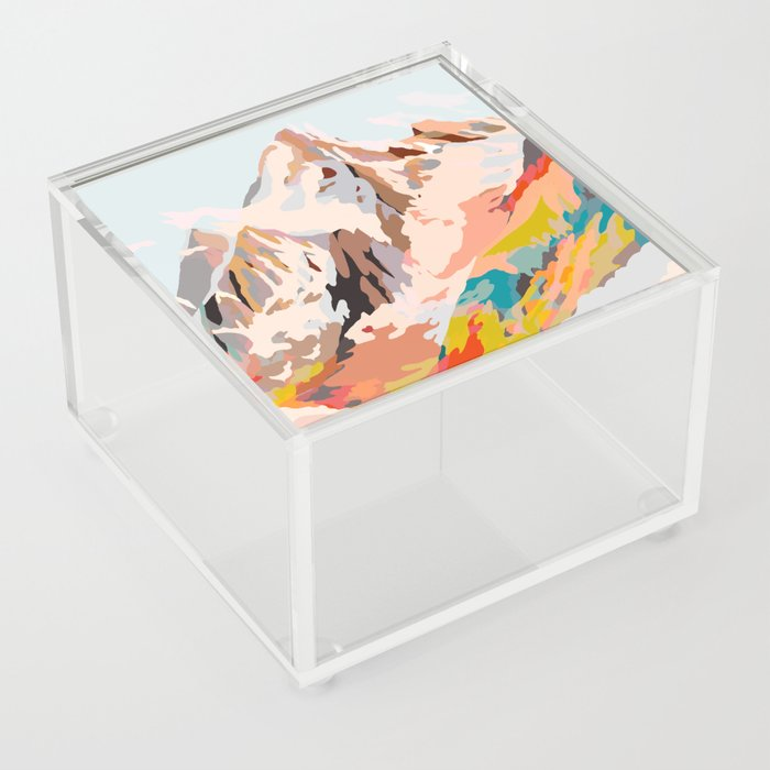 glass mountains Acrylic Box