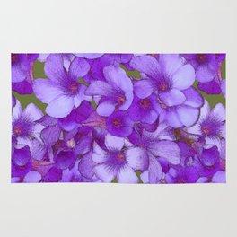 Purple Oxalis Rug