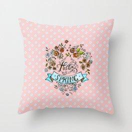 Hello Spring - by Fanitsa Petrou Throw Pillow