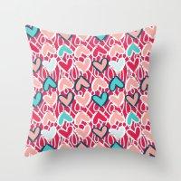 valentine Throw Pillows featuring Valentine by Art Tree Designs