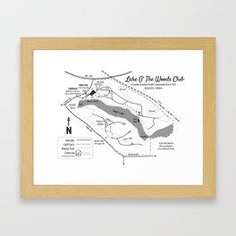Lake O' The Woods Map O' The Grounds Framed Art Print