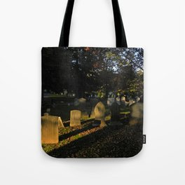 Headstones in a Fall Sunset Tote Bag