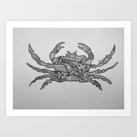 crab Art Prints featuring Crab by Larissa