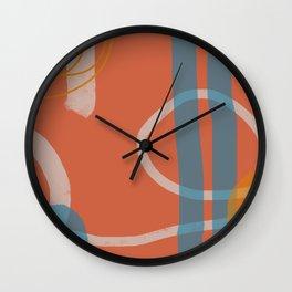 Lineup Series Orange Wall Clock