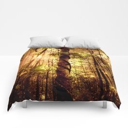 Forest of the Fairies Golden Leaves Comforters