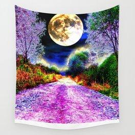 Moonlight Pathway Wall Tapestry