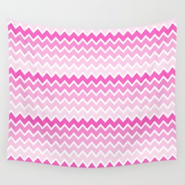 Pink Ombre Chevron Wall Tapestry