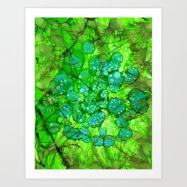 Algae Jungle Art Print
