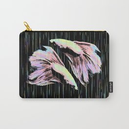 Pastel Siamese Fighting Fish In Electro Synchronicity Carry-All Pouch