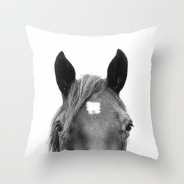 Peeking Horse Throw Pillow