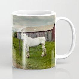 Big White Horse Coffee Mug