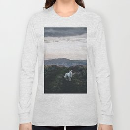 Wolf Golden Paradise (Color) Long Sleeve T-shirt