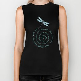 Witches rule of Three and dragonfly Biker Tank