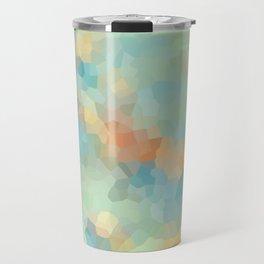 "Colored crystals . ""Sunbeams"" . Travel Mug"
