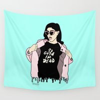 goth Wall Tapestries featuring So goth im dead by JessicaJaneIllustration