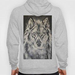 Crazy Eyed Wolf Hoody