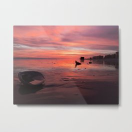 Aurora by the Sea Metal Print