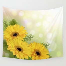 Art Flowers V18 Wall Tapestry