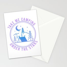Take Me Camping Under The Stars pb Stationery Cards
