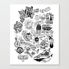 3am Thoughts Club Canvas Print