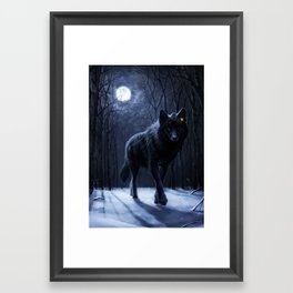 Encounter in the night Framed Art Print