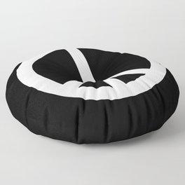 Peace (White & Black) Floor Pillow