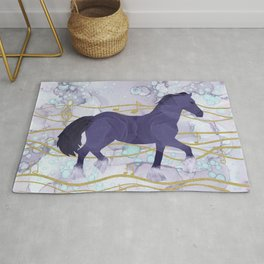 The Musical Horse Trotting Through the Rhythms of Nature Rug