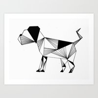 the hound Art Prints featuring Hound by LAGOM