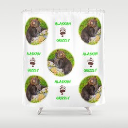 GRIZ  Pattern Shower Curtain