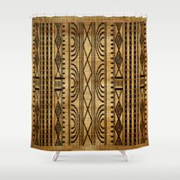 african Shower Curtains featuring African Weave by Robin Curtiss
