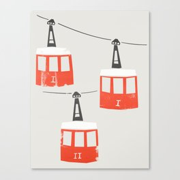 Barcelona Cable Cars Canvas Print