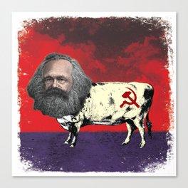 COW MARX - FATHER OF BOVINE COMMUNISM Canvas Print