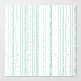 Blush green bohemian arrows zigzag geometrical Canvas Print