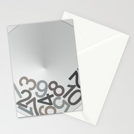 clock digits Stationery Cards