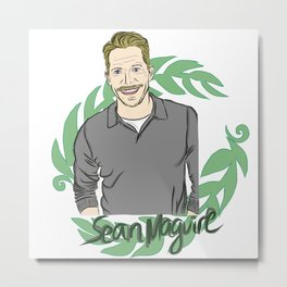Sean Maguire - Once Upon A Time's Robin Hood Metal Print