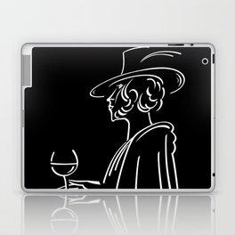 Abstract retro portrait of man Laptop & iPad Skin