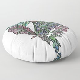 Art Nouveau Morning Glory Isolated Floor Pillow