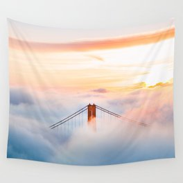 Golden Gate Bridge at Sunrise from Hawk Hill - San Francisco, California Wall Tapestry