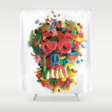 Death and Tooth Decay Shower Curtain