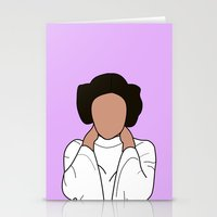 princess leia Stationery Cards featuring Princess Leia by Blancamccord