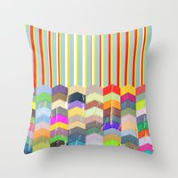 one direction Throw Pillows featuring One Direction by TT Smith
